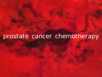 prostate cancer chemotherapy