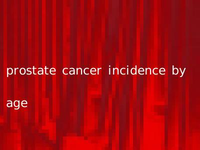 prostate cancer incidence by age