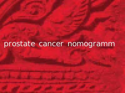 prostate cancer nomogramm