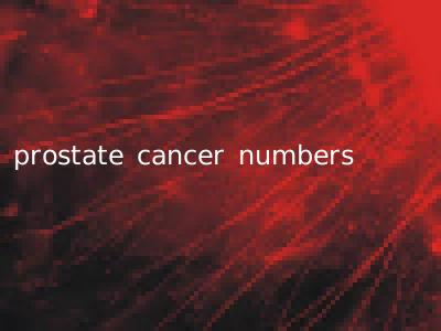 prostate cancer numbers
