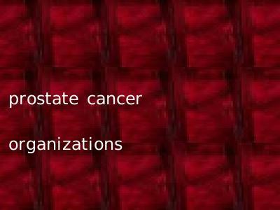 prostate cancer organizations